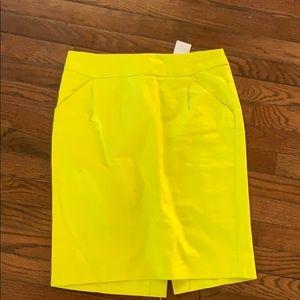 Brand New Neon J. Crew pencil skirt